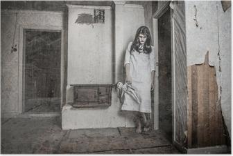 Póster Una chica fantasma aterrador