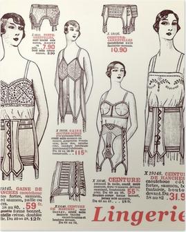 Poster Underkläder 1930