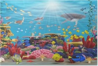 Póster Underwater paraíso