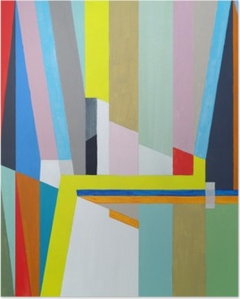 Poster Une peinture abstraite