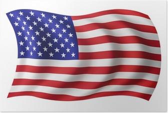 Poster USA flag USA - amerikanska flaggan