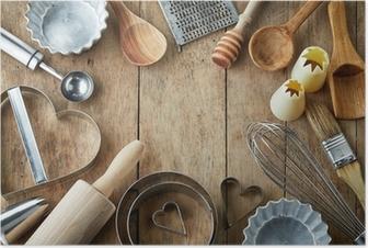 Póster Utensilios de cocina