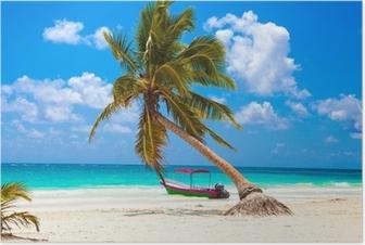 Poster Vacances et le concept de tourisme: Caribbean Paradise.