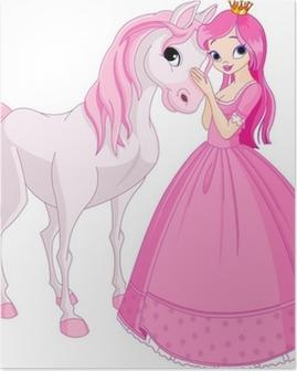 Poster Vackra prinsessan och häst
