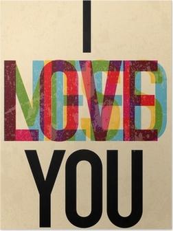 Valentine's Day type text calligraphic Poster