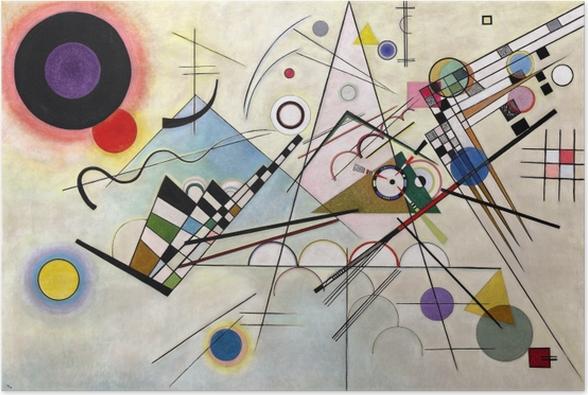 Póster Vasili Kandinski - Composición VIII - Reproducciones