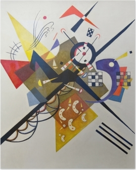 Poster Vasilij Kandinskij - På vitt II