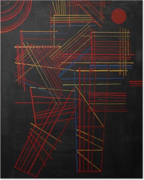 Poster Vassily Kandinsky - Bâtons de couleur - Reproductions