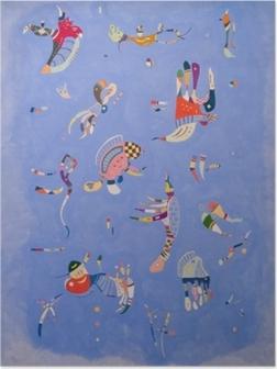 Poster Vassily Kandinsky - Bleu de ciel