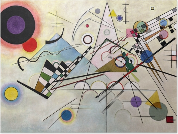 Poster Vassily Kandinsky - Composition VIII - Reproductions