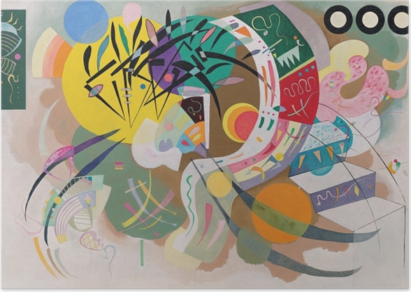 Poster Vassily Kandinsky - Courbe dominante - Reproductions