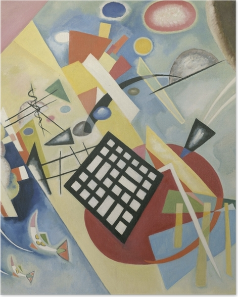 Poster Vassily Kandinsky - Grille noire - Reproductions