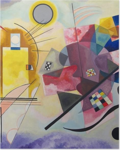 Poster Vassily Kandinsky - Jaune – rouge – bleu - Reproductions