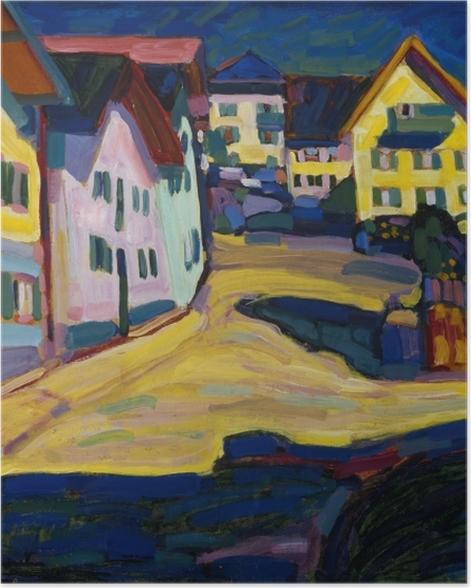 Poster Vassily Kandinsky - Murnau Burggrabenstrasse - Reproductions