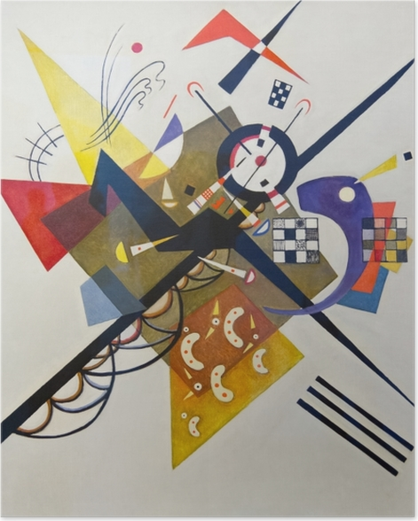 Poster Vassily Kandinsky - Sur blanc no 2 - Reproductions