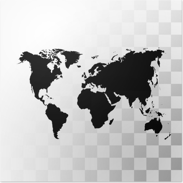 Black World Map Poster.Vector Black World Map Poster Pixers We Live To Change