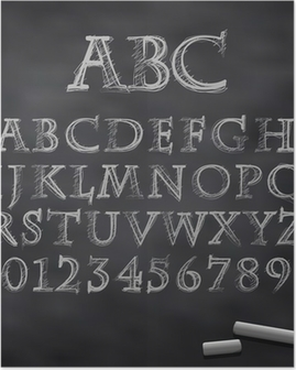 Vector chalk font Poster