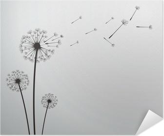 vector dandelion Poster