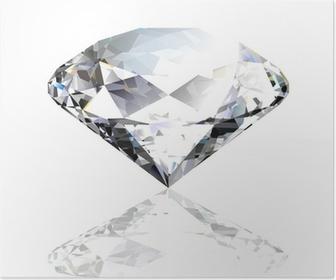 Poster Vector diamant noir