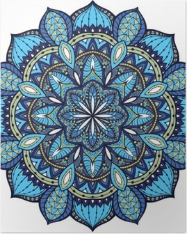 Vector, elegant mandala, with intricate detail. Poster