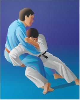 Poster Vector illustratie van judo