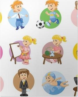 Poster Vector illustratie van mensen van verschillende beroepen