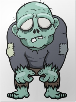 Poster Vector illustration de zombie Cartoon