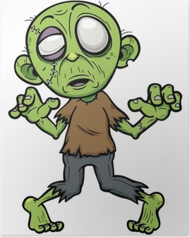 Vector illustration of Cartoon zombie Poster
