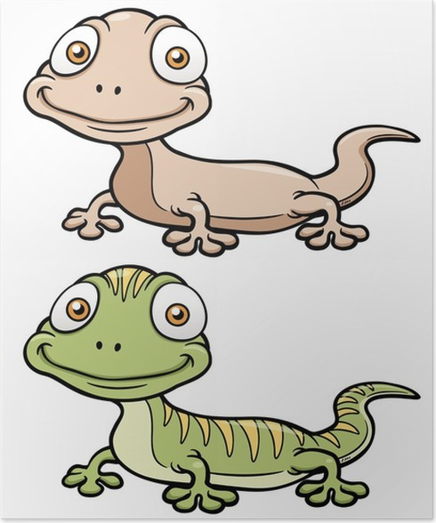 vector illustration of gecko cartoon poster rh pixers uk gecko cartoon characters gecko cartoon on youtube