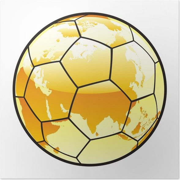 Vector illustration of soccer ball with world map layout poster vector illustration of soccer ball with world map layout poster gumiabroncs Gallery