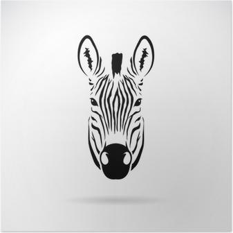 Vector Image Of An Zebra Head Sticker Pixers We Live To Change
