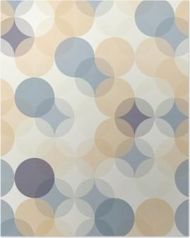 Poster Vector moderne naadloze kleurrijke meetkunde patroon van cirkels, kleur abstract geometrische achtergrond, behang druk, retro textuur, hipster fashion design, __