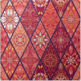 Poster Vector naadloze textuur. prachtig mega patchworkpatroon voor design en mode met decoratieve elementen