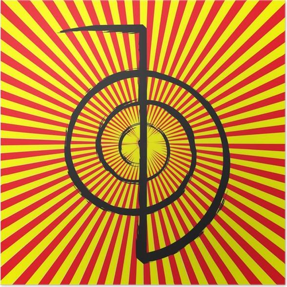 Vector Of Reiki Symbol Chokurei Cho Ku Rei Poster Pixers We