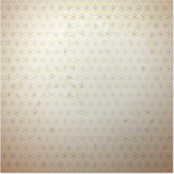 Póster Vector patrón de retro (baldosas). colores rojo, beige y azul ...