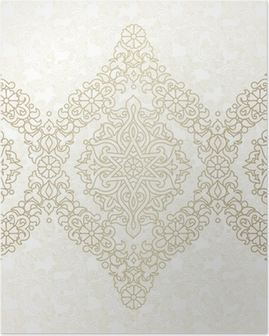 Vector seamless border in Eastern style. Poster