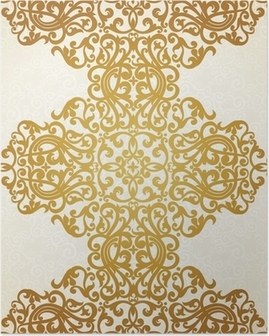 Vector seamless border in Victorian style. Element for design. Poster