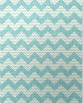 vector Seamless geometric zig zag chevron pattern Poster
