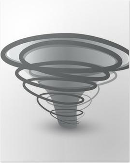 Poster Vector tornado