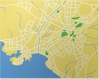 Amsterdam Karta Hotell.Poster Vektor Karta Over Amsterdam Pixers Vi Lever For Forandring