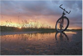 Poster Vélo dans la flaque