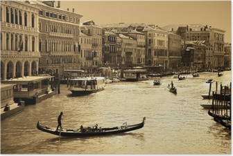 Venice in sepia toned Poster