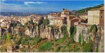 Póster Viajes en España - Cuenca, ciudad en las rocas