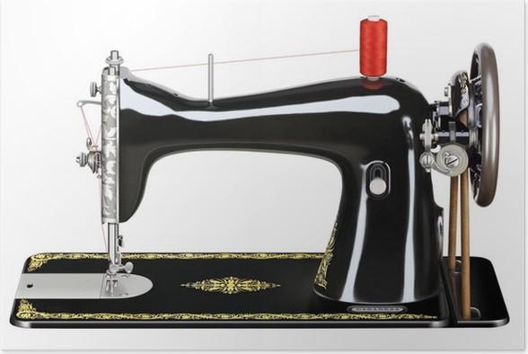 poster vieille machine coudre pixers nous vivons. Black Bedroom Furniture Sets. Home Design Ideas