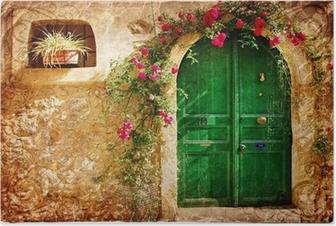 Poster Vieilles portes grecques - rétro image de style