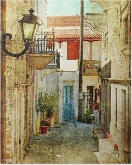 Poster Vieilles rues grecques et artistique image