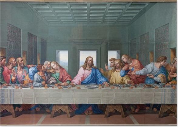 Vienna mosaic of last supper copy leonardo da vinci poster