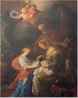 Vienna - Paint of little Vigin an st. Joachim and Ann Poster