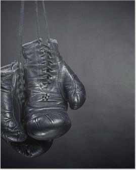 Poster Vieux gants de boxe