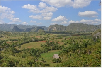 View over Vinales in Cuba Poster